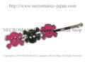 【ネクロマンス NECROMANCE】 スカルヘアーピン Skull Hair Pins <ピンク/Pink/桃色> 骸骨
