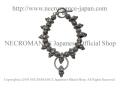 【ネクロマンス NECROMANCE】 ラージスカルブレスレット Large Skull Bracelet 骸骨