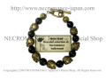 �ڥͥ���ޥ� NECROMANCE�ۥ��˥����֥饹�?��������֥쥹��å� Onyx Brass Rose Skull Bracelet �� ���� ���� ����