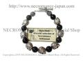 �ڥͥ���ޥ� NECROMANCE�ۥ��˥�������С��?��������֥쥹��å� Onyx Silver Rose Skull Bracelet �� ���� ���� ����