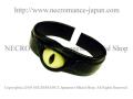 【ネクロマンス NECROMANCE】 レザー義眼バングル Leather Eye Bangle <イエローキャット/Yellow Cat/黄猫目> 目玉 革
