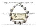 【ネクロマンス NECROMANCE】 パール スカルブレスレット Freshwater Pearl Skull Bracelet 真珠 淡水パール 骸骨