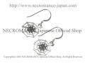 【ネクロマンス NECROMANCE】 シルバースパイダーWebピアス Silver Spidr Web Pierce 蜘蛛の巣