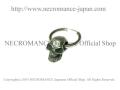 【ネクロマンス NECROMANCE】 シルバースカルピアス <ラージスカル> Silver Skull Pierce <Large Skull> 骸骨