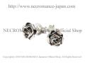 �ڥͥ���ޥ� NECROMANCE�� ����С��?�������åɥԥ��� Silver Rose Stud Pierce ��