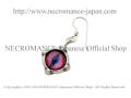 【ネクロマンス NECROMANCE】 シルバー義眼ピアス Silver Glass Eye Pierce <ピンク ブルー/Pink Blue//桃色青> 目玉 悪魔 ドラゴン Dragon 龍