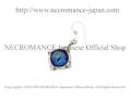 【ネクロマンス NECROMANCE】 シルバー義眼ピアス Silver Glass Eye Pierce <ブルー/Blue/青> 目玉 悪魔 ドラゴン Dragon 龍