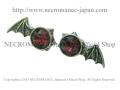 【ネクロマンス NECROMANCE】 ヴァンパイアバットウィング スタッドピアス Vampire Bat Wing Stad Pierce 蝙蝠 お祈り