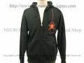 【ネクロマンス NECROMANCE】 ドロップスパイダー ジップアップパーカー Drop Spider hooded sweatshirt 蜘蛛