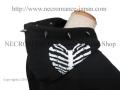 【ネクロマンス NECROMANCE】 スタッズ ハートリブスケルトン ジップアップパーカー <7粒> Stads Heart Rib Skeleton hooded sweatshirt 骸骨 肋骨 心臓