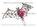 【ネクロマンス NECROMANCE】 バットヘアークリップ Bat Hairclip <ピンク/Pink/桃色> 蝙蝠 コウモリ