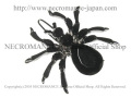 【ネクロマンス NECROMANCE】 スパイダーヘアークリップ Spider Hairclip <ブラック/Black/黒> 蜘蛛
