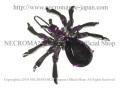 【ネクロマンス NECROMANCE】 スパイダーヘアークリップ Spider Hairclip <パープル/Purple/紫> 蜘蛛