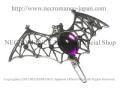 【ネクロマンス NECROMANCE】 バットヘアークリップ Bat Hairclip <パープル/Purple/紫> 蝙蝠 コウモリ