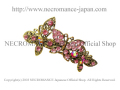 【ネクロマンス NECROMANCE】 ピンクバタフライ ラインストーンバレッタ Pink Butterfly Rhinestone barrette <ピンク/Pink/桃色> 蝶々