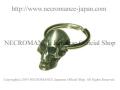 【ネクロマンス NECROMANCE】【限定】プレモダンスカルキーリング Premodern Skull Keyring 骸骨 頭蓋骨 古代人 宇宙人 エイリアン