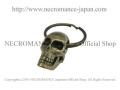 【ネクロマンス NECROMANCE】 ブラスNEWスカルキーリング Brass New Skull Keyring 骸骨 頭蓋骨