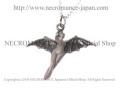【ネクロマンス NECROMANCE】 シルバーバットフェアリーネックレス Silver Bat Fairy Necklace 蝙蝠 コウモリ 妖精