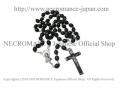 【ネクロマンス NECROMANCE】 ブラックロザリオネックレス Black Rosary Necklace <ウッド/Wood> 十字架 クロス