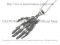 【ネクロマンス NECROMANCE】 リアルシルバーボーンハンドネックレス Real Silver Bone Hand Necklace 骸骨