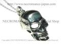 【ネクロマンス NECROMANCE】 リアルシルバースカルネックレス Real Silver Skull Necklace 骸骨 頭蓋骨