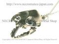 【ネクロマンス NECROMANCE】 シルバーバットスカルネックレス Silver Bat Skull Necklace 蝙蝠 コウモリ 頭蓋骨