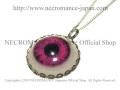 【ネクロマンス NECROMANCE】 義眼ネックレス Eye Necklace <レッド/Red/赤> 目玉