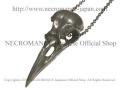 【ネクロマンス NECROMANCE】 レビンスカルネックレス Raven Skull Necklace カラス 鴉 頭蓋骨 骸骨