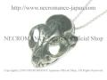 【ネクロマンス NECROMANCE】 シルバーキャットスカルネックレス Silver Cat Skull Necklace 猫 骸骨 頭蓋骨