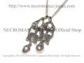 【ネクロマンス NECROMANCE】 シルバーダブルスケルトンネックレス Silver Double Skeleton Necklace 骸骨 兄弟