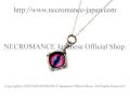 【ネクロマンス NECROMANCE】 シルバー義眼ネックレス Silver Glass Eye Necklace <ピンク ブルー/Pink Blue//桃色青> 目玉 悪魔 ドラゴン Dragon 龍