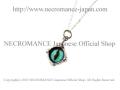 【ネクロマンス NECROMANCE】 シルバー義眼ネックレス Silver Glass Eye Necklace <エメラルド グリーン/Emerald Green/緑> 目玉 悪魔 ドラゴン Dragon 龍