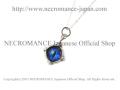 【ネクロマンス NECROMANCE】 シルバー義眼ネックレス Silver Glass Eye Necklace <ブルー/Blue/青> 目玉 悪魔 ドラゴン Dragon 龍
