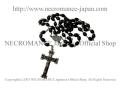 【ネクロマンス NECROMANCE】【数量限定】 ブラックロザリオネックレス Black Rosary Necklace<エクソシズム/Exorcism>十字架 クロス 悪魔祓い