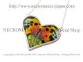 【ネクロマンス NECROMANCE】【数量限定】シルバーラージハート リアルバタフライウィングネックレス Silver Large Heart Real Butterfly Wing Necklace <サンセットモス> 蝶々 羽 ハート型