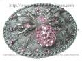 【ネクロマンス NECROMANCE】 ピンクスパイダーバックル Pink Spider Buckle <ピンク/Pink/桃色> 蜘蛛