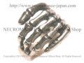 【ネクロマンス NECROMANCE】 ラージボーンハンドリング Large Bone Hang Ring 骸骨 Skeleton スケルトン シルバー 指輪