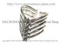 【ネクロマンス NECROMANCE】 リブリング Rib Ring 肋骨 骸骨 指輪