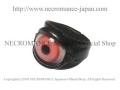 【ネクロマンス NECROMANCE】 レザー義眼リング Leather Eye Ring <アルビノピンク/Albino Pink/桃色> 目玉 革