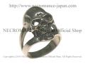 【ネクロマンス NECROMANCE】 デビルスカルリング Devil Skull Ring 悪魔 骸骨 指輪
