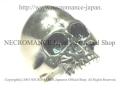 【ネクロマンス NECROMANCE】 リアルシルバースカルリング Real Silver Skull Ring 骸骨 指輪