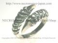 【ネクロマンス NECROMANCE】 シルバークロウリング Silver Claw Ring 獣 爪