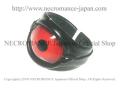 【ネクロマンス NECROMANCE】 レザー義眼リング Leather Eye Ring <レッド/Red/赤> 目玉 革