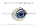 【ネクロマンス NECROMANCE】【数量限定】シルバーNEW義眼リング Silver New Eye Ring <ブライトブルー/Brigt Blue/青> 目玉