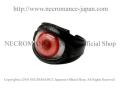 【ネクロマンス NECROMANCE】 レザー義眼リング Leather Eye Ring <ブライト ピンク/Brigt Pink/桃色> 目玉 革