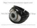 【ネクロマンス NECROMANCE】 レザー義眼リング Leather Glass Eye Ring <ライトグレー/Lrigt Gray/明るい灰色> 目玉 革