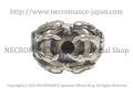 【ネクロマンス NECROMANCE】ボーンハンド義眼リング Bone Hand Glass Eye Ring <ブルー/Blue/青>目玉 骸骨