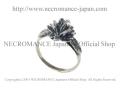 �ڥͥ���ޥ� NECROMANCE�� ����С������å��?����� Silver Gothic Rose Ring �� ����
