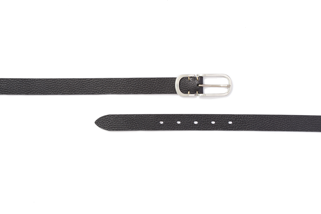 PEWTER NARROW BELTS|BLACK