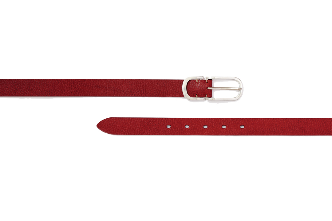 PEWTER NARROW BELTS|RED